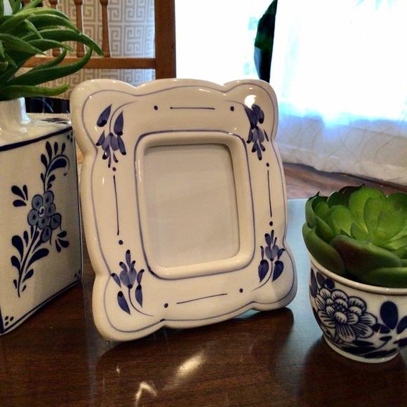 Small Ceramic Painted Burnes Frame